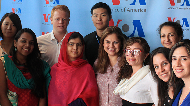 International Students Meet Nobel Laureate Malala Yousafzai