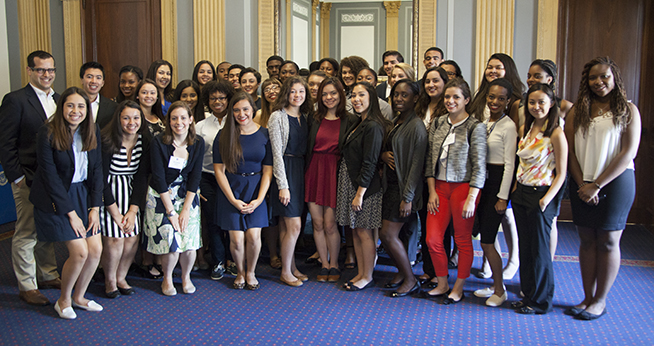 Step Students Connect with Alumni on Capitol Hill
