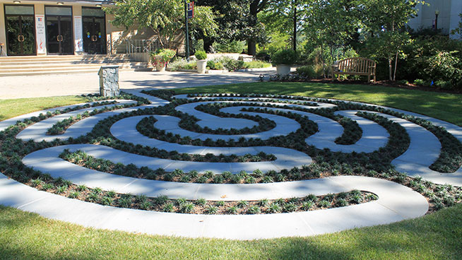 Labyrinth in front of Kay Spiritual Life Center