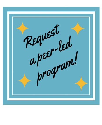 Image says request a peer led program