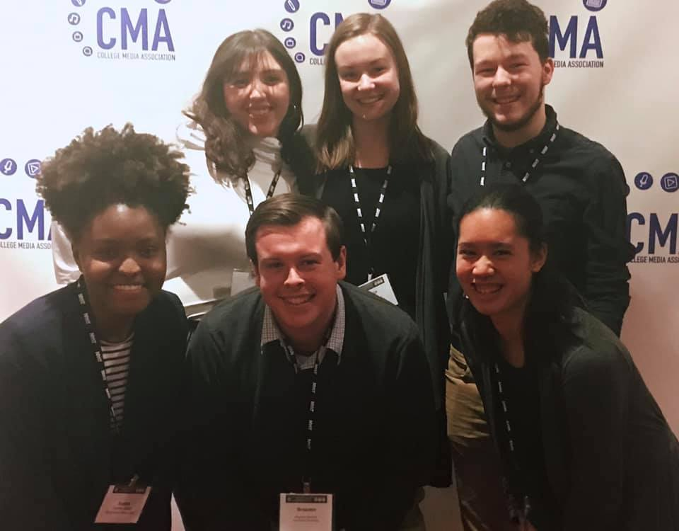 picture of media students at College Media Association Conference