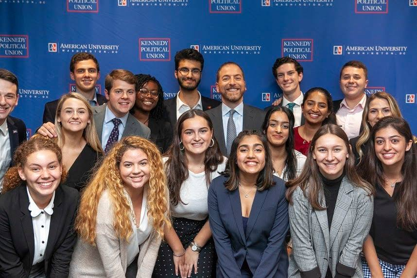 student government members with NBC Host Chuck Todd November 2019