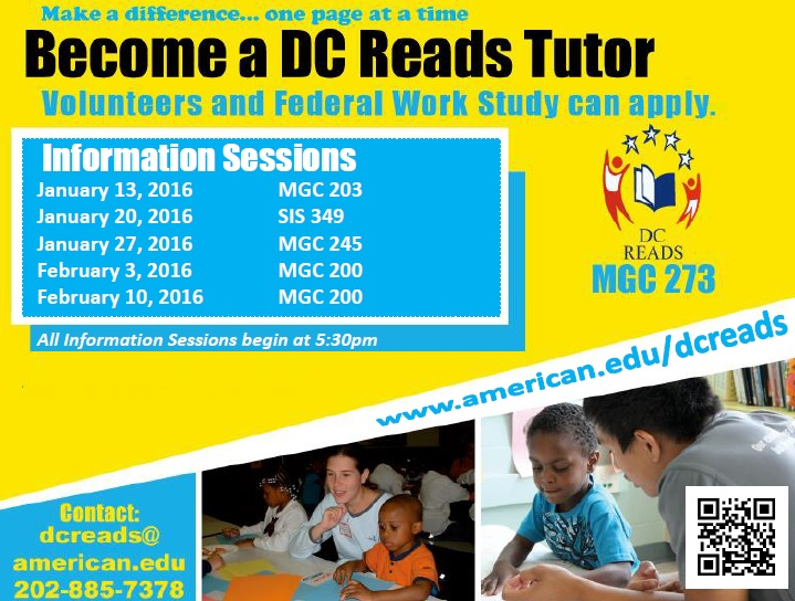 DC Reads Information Sessions