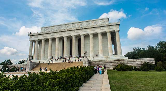 The Lincoln Memorial in Washington, DC