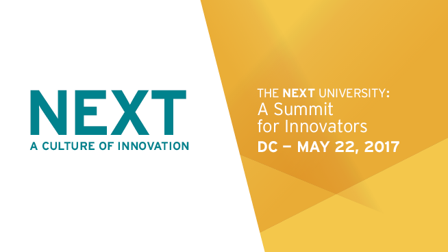 NEXT: a culture of innovation. The NEXT Summit: Designing a Holistic Student Experience