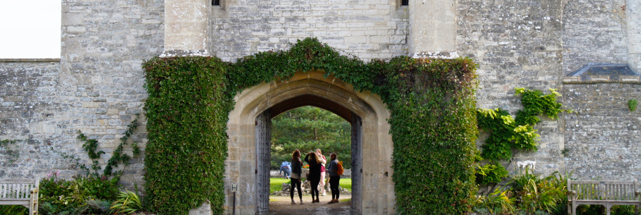England Mentorship students at Bath Spa University castle