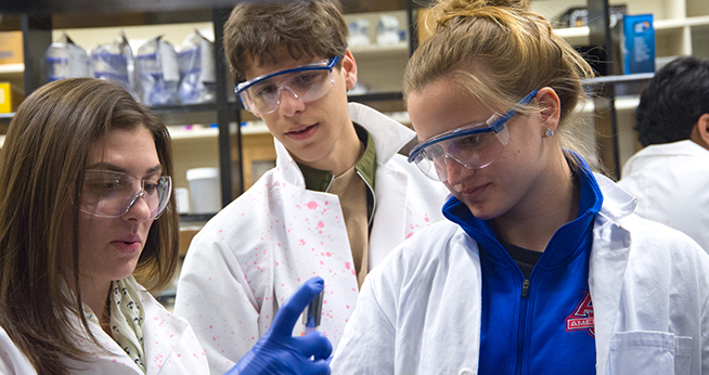Chemistry Students in the Lab