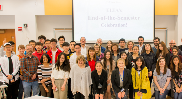 ESL (English as a Second Language) students at the Spring 2018 reception