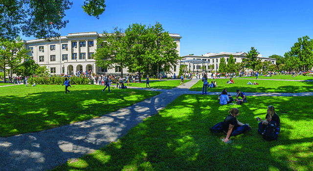 A panoramic view of the American University campus