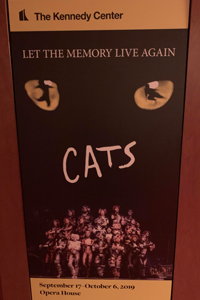 Broadway poster for the musical Cats.