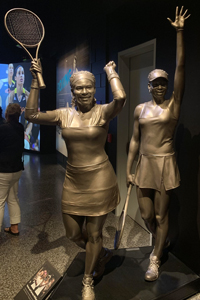 Venus and Serena Williams Statues.