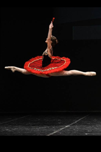 Ballet dancer in the air