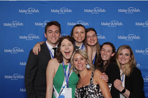 Vivian with her colleagues at her internship at the Make-a-Wish Foundation