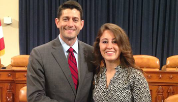 wsp american politics Elayne Allen with Paul Ryan