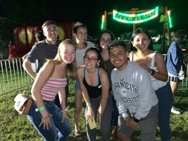 Washington Semester Program students at the American University carnival