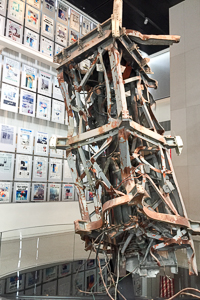 A 9/11 exhibit at the Newseum