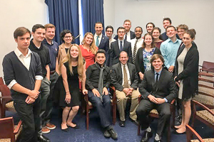 Alyssa's class at the Congressional Office of Ryan Costello, a fellow WSP alum