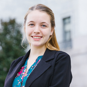 Alyssa Clune, student ambassador in the Washington Semester program