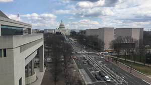 The view of the Capitol from the top of the Newseum