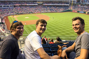 Ethan with WSP friends at Nationals Stadium