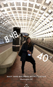 Maddie in the DC Metro