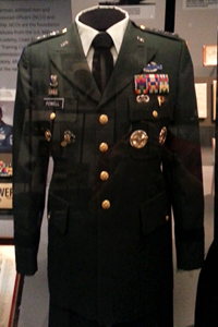 General Powell's uniform on display at African American History Museum