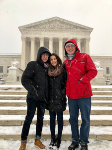 Andy with friends in front of the Supreme Court
