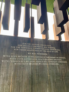 The lynching memorial in Montgomery, AL.