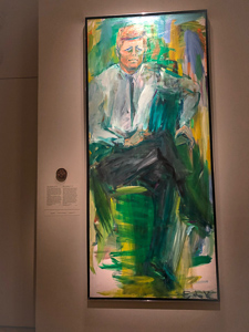 A portrait of John F. Kennedy at the National Portrait Gallery