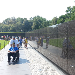 Vietnam Memorial wall in Washington, D.C.
