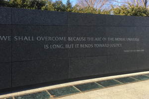 A quote at the Martin Luther King Jr. Memorial on the National Mall in Washington DC, taken by a Washington Semester Program student.