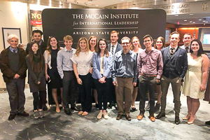 Washington Semester program foreign policy students at the McCain institute