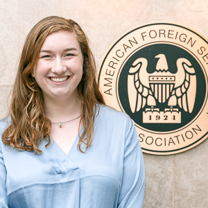 Washington Semester Program Foreign Policy student Molly Quillin at the American Foreign Service Association