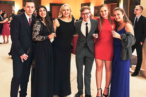 Washington Semester Program students attend the Italian Embassy Valentine's Day Gala in Washington DC