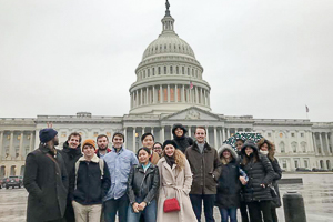 Washington Semester Program Global Economics & Business students visit the Capitol Building in Washington DC