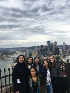 Sarah with group in Pittsburgh