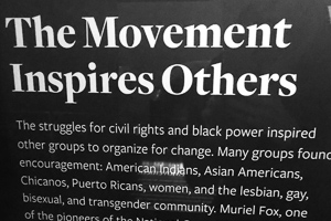 The Movement Inspires Others museum display