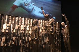 Exhibit at the African American Museum on the national Mall