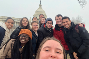 Washington Semester students in front of the US Capitol
