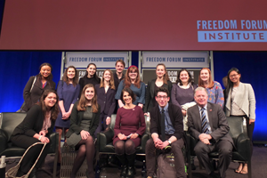 Washington Semester students at the Freedom Forum Institute