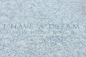 Martin Luther King, Jr. Memorial with words