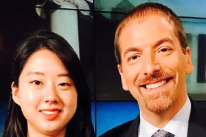 Jiyoun Yoo with Chuck Todd from NBC