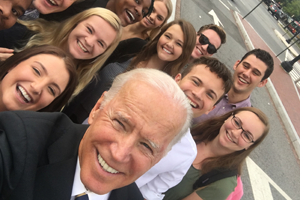 Former Vice President Joe Biden with American Politics students