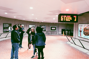 Washington Semester Program students explore the metro system throughout Washington DC