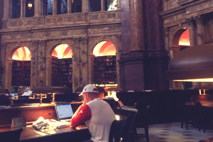 Doing homework at the Library of Congress