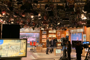 The filming of Meet the Press featuring Chuck Todd!