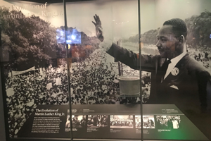 National Museum of African American History exhibit on Martin Luther King, Jr.