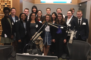 Washington Semester students at National Public Radio (NPR)