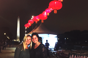 Paige with a friend at Illuminasia Festival on the national Mall