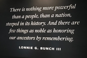 Quote from African American Museum: